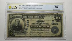 10 1902 Effingham Illinois Il National Currency Bank Note Bill Ch. 4233 Vf20
