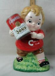 2005 Campbell's Soup Kid With Can Of Tomato Soup Ceramic 12 Cookie Jar
