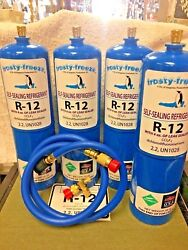 R12 Refrigerant R-12 4 28 Oz. Cans With Leak Stop Proseal Xl4 1 To 5 Hp