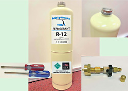 Refrigerant 12, R12, R-12, New, 28 Oz. Includes On/off Valve, Tool Kit A