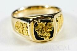Gold Nugget Men's Ring Orocal Rm674 Genuine Hand Crafted Jewelry - 14k Casting