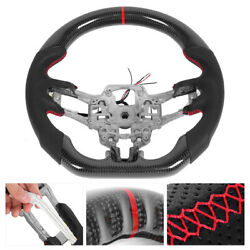 Carbon Fiber Heated Steering Wheel Fit For Ford Mustang Ecoboost Gt Shelby Gt350