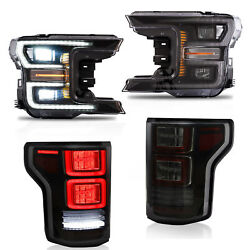 Led Sequential Headlight Taillight Projector For Ford F-150 20182020 Replacemen