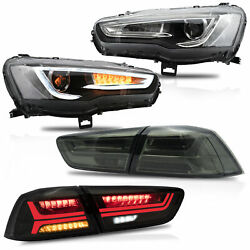 Led Headlight Tailight Projector Replacement For Mitsubishi Lancer 20102019