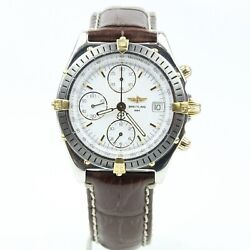 Breitling Steel And 18k Gold Chronomat Automatic Watch B13048 White Dial