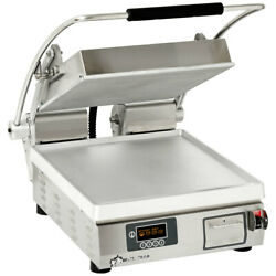 Star Pgt14i Two Sided Panini Sandwich Grill Iron Grooved Plates 14x14