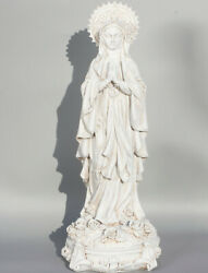 Virgin Mary Christian Statue Our Lady Madonna Figures Religious Sculpture White