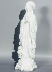 Madonna Statue Christian Our Lady Religious Sculpture Virgin Mary White Figurine