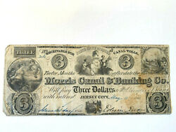 1841 3 The Morris Canal And Banking Company - New Jersey Note - Rare