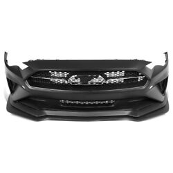 For 2018-2020 Ford Mustang Gt Ecoboost Front Bumper Grille Cover W/badge Bracket