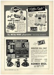 1954 Paper Ad Empire Toy Steam Engine Electric Oven Stove Kohner Doll Craft