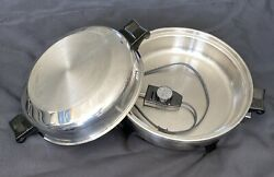 Society By Regal Ware 12 Electric Stainless Steel Skillet Oil Core Excellent