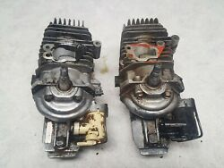 Two 2 Mcculloch Power Mac 330 Chainsaw Short Block Engines - Parts Or Rebuild