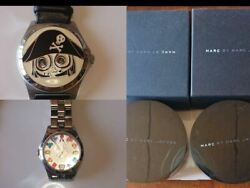 Marc By Marc Jacobs Spring Summer 2010 Model Watch Lot Of 2 W/ Box Japan Shipped