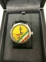 Terra Cielo Mare Panini Ylw Yellow Automatic Wrist Watch W/ Case Limited Edition
