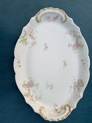 Great Very Old Vintage China Large Serving Plate Theodore Haviland Limoge France