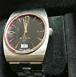 Paul Smith Swiss Collection No.122 Black Dial Men's Watch W/ Box Limited Edition