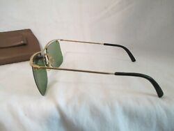 VINTAGE Gold Wire COOL RAY POLAROID 88 Green Lenses SUNGLASSESCase $49.99