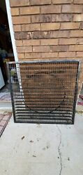 Huge Antique Victorian Cast Iron 36 X36 Floor Grate Cold Air Return Table Size