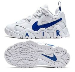New Nike Air Barrage Low Youth/kids Shoes, White/hyper Blue, Ck4355-100, Sz 6y