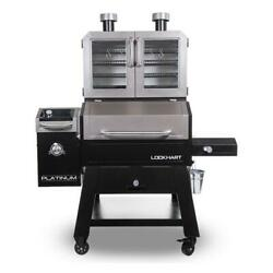 Pit Boss Lockhart Platinum Series Wifi And Bluetooth Wood Pellet Grill And Smok