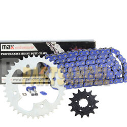 Blue O-ring Drive Chain And Sprocket Kit For 2003 2004 Polaris Predator 500