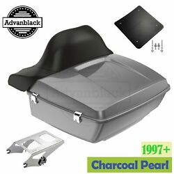 Charcoal Pearl King Tour Pak Pack For Harley Street Road Electra Glide 97+