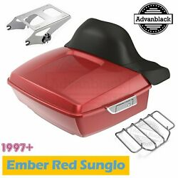 Ember Red Sunglo King Tour Pack Pak For Harley Street Road Electra Glide 97+
