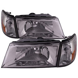 Headlights And Side Marker 4pc Set W/performance Lens For 03-04 Grand Marquis