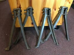Antique Iron Legs Charles E. Francis Company Rushville Ind Were Bolted To I-beam
