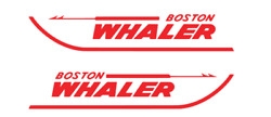 """Boston Whaler Decal Kit 14"""" Factory Size RED 6.5"""" Bundle Decals FREE SHIPPING"""