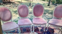 Queen Anne Style Velvet Dining Room Chairs
