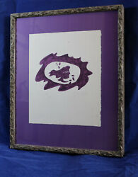 Georges Braque Tête Violette 1958 Lithograph Signed 14/75 In Our Family 51 Yrs