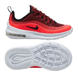 New Nike Air Max Axis Youth/kids Shoes, Team Red/black/white, Ah5222-602, Sz 6y