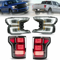 Led Sequential Projector Headlight Taillight Signal Lamp For Ford F150 20182020