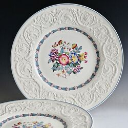 Vintage Set Of 6 Dinner Plate S England Wedgwood Patrician Morning Glory Tl381
