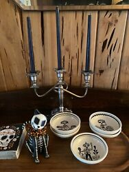 """Antique Heavy Silver Plated Stamped """"sheffield"""" 3 Arm Ornate 10"""" Tall Candelabra"""