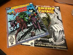 Swamp Thing 50 And 51 1st Justice League Dark Signed By Bissette And Totleben