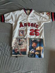Jim Abbot Autographed Collection With Coa. Jersey Photo Card And Magazine.
