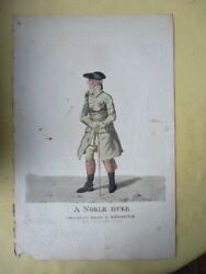 Vintage Engraving,a Noble Duke, 1801, Robt.dighton,1752-1814,hand Colored