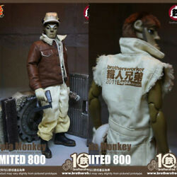 Hot Toys 1/6th Sepia Monkey Figure Brothersfree 10th Anniversary Limited Version