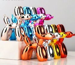 Resin Balloon Dogs Cute Shiny Statue Sculpture Figurines For Home Decor