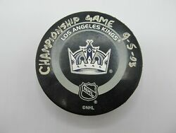 Nhl Los Angeles Kings Championship Official Game Puck 9-5-03