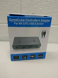 4 Port Ngc Gamecube Controller Adapter For Nintendo Wii Uandswitch Usb Pc New
