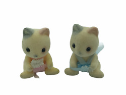 Calico Critters Sylvanian Families Whiskers Cat Twins Mallory and Jeremy RETIRED
