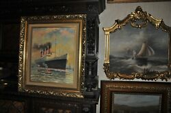 Great Large Ocean Liner Painting