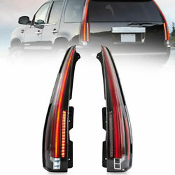 Clear Led Taillights Lens For 2007-2014 Cadillac Escalade Esv Signal Turn Lamp