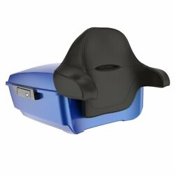 Advanblack Blue Max King Tour Pack Wrap Around Backrest For Harley Touring 97-20