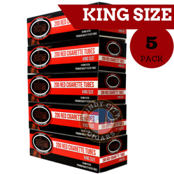 Ohm Full Flavor Cigarette Filter Tube Tobacco King Size Red 5 Boxes And Bonus Case