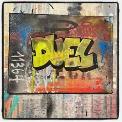 Duel Ris Toile Chassis 31x23cm Graffiti Street Art Seen/cope2/obey/rd357/iz/ces
